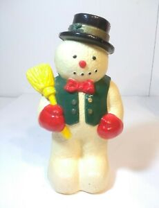 """Vintage Christmas Blow Mold """"Snowman Only"""" Hard Plastic 10"""" Dynagood Replacement"""