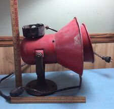 Vintage Red Faraday 110/120 AC/DC Type 150 Horn Siren Alarm Industrial Works