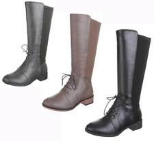 Wadenhohe Damen-Stiefel mit mittlerem Absatz (3-5 cm) für die Freizeit