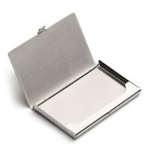 Silver Business Name ID Credit Card Case Metal Fine Box Holder Mens Pocket Gift