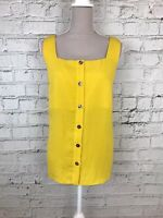 Dorothy Perkins Womens Mustard Yellow Square Neck Sleeveless Summer Top Size 18