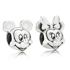 Pandora Silver 925 Disney Mickey & Minnie Portrait Charm Set 797495 797496
