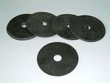 10 Nitrile Rubber Washers 58mm O/D X 10.5mm I/D X 1.2mm Thk