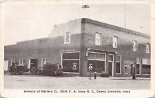 Grand Junction Iowa~Armory Of Battery D~National Guard c1910 PC