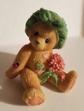 "Teddy Bear Figurine - Dahlia P. Hillman appx. 3""T x 2.5""W x 2""L Vg"