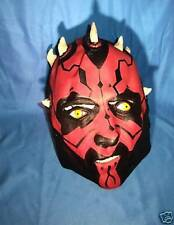 DELUXE DARTH MAUL MASK RUBBER REAL LOOKING STAR WARS HALLOWEEN MASK ADULT SIZE