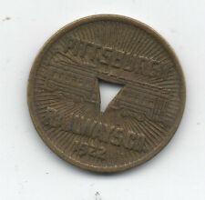 1922 Fare Transit Token from the Pittsburgh Railways Company