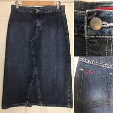 Per Una Pencil Denim Jean Skirt Size 10 Summer Holiday