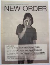 NEW ORDER 2001 POSTER ADVERT CONCERT GET READY