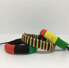 and Green . Red, Yellow, and Green 3 Pan African & Rasta Bracelets. Red, Black,