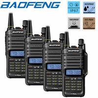 4X BAOFENG UV-9R PLUS IP67 WATERPROOF UHF/VHF WALKIE TALKIE 2 WAY RADIO SCANNER