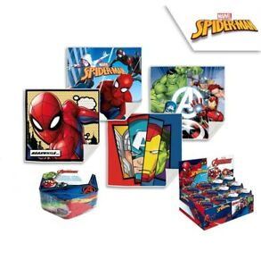 Avengers & Spiderman Magic Towel Set Boys Marvel Face Towel 4 In A Pack