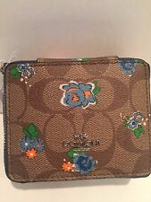 COACH Jewelry Box in Floral Logo Print Kkaki/ Blue Multicolor -NWT