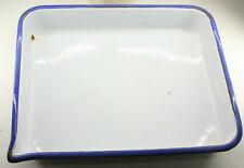 "Cesco 11x14"" White Enameled Metal Tray Spout Photo Darkroom Printing USED M50Q"