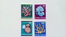 TOKELAU - MNH - 1973 - Corals - 4/4 v