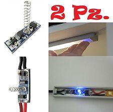2 x Interruttore a sfioro DIMMER TOUCH per barre led profili alluminio strip led