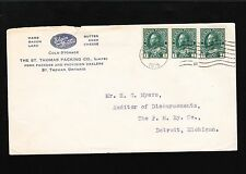 Canada St. Thomas Packing Pork Lard Fish Butter Eggs Bacon Cheese 1915 Cover 5u