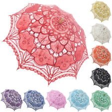 TopTie Vintage Large Lace Parasol Umbrella for Wedding Bridal Photograph Costume
