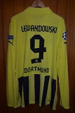 BORUSSIA DORTMUND 2012/2013 CHAMPIONS LEAGUE FOOTBALL SHIRT PUMA #9 LEWANDOWSKI