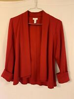 Women's Chico's Long Sleeve Red Blazer Jacket Size 0