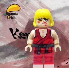 **Pre-order** MANGA BRICK Custom Street Fighter Ken Masters Lego Minifigure