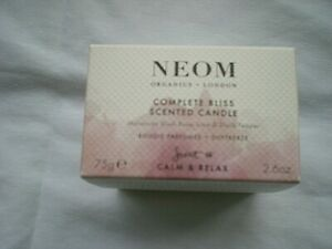 NEOM COMPLETE BLISS - SCENTED CANDLE - CALM + RELAX 75G - BRAND NEW