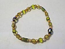 Vintage Faceted Beads Stretch Bracelet