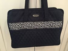 GRACO  Black & White Quilted & Lined Diaper Bag With Removable Zippered Pouch