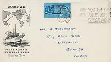 **OPENING OF COMPAC CABLE FIRST DAY COVER 3RD DECEMBER 1963 **