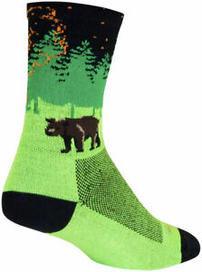 SockGuy Off the Grid Crew Socks - 6 inch, Green/Black/Brown, Large/X-Large