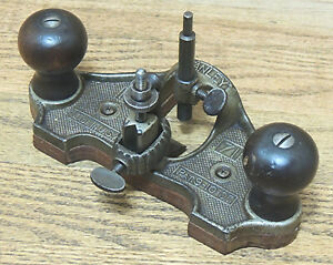 TYPE 9  1916-1924 STANLEY No. 71 OPEN THROAT ROUTER PLANE-ANTIQUE HAND TOOL