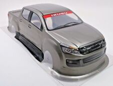 Pre-Painted RC Body 1/10th Scale Silver Pick-Up Truck Izuzu HPI Traxxas Kyohso