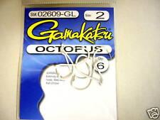 Gamakatsu Octopus hooks size 2 glow 6 count #02609-GL
