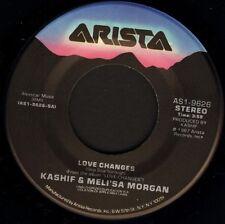 "KASHIF AND MELI'SA MORGAN love changes/midnite mood AS1-9626 usa 1987 7"" WS EX/"