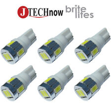 Jtech 6x T10 6 SMD5630 LED 3W Super Bright White 194 168 2825 W5W Car Light Bulb