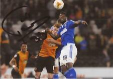 IPSWICH: LARSEN TOURE SIGNED 6x4 ACTION PHOTO+COA