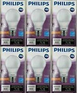 Philips Light Bulbs A19 9.5 Watt LED 60 Watt Equal 800 Lumens Soft White 6 PK