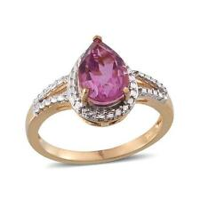 2.25ct Kunzite Quartz Solitaire Ring in 14K Gold OL 925 Sterling Silver - Size S