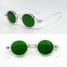 Vintage Small Oval Round Reading Sunglasses Transparent Full Rim unisex 150 300