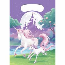 'Unicorn Fantasy' Balloon Girls Birthday Party 8 x Loot Favor Bags, Childrens