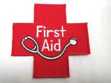 First Aid Red Cross Embroidered Iron On Patch