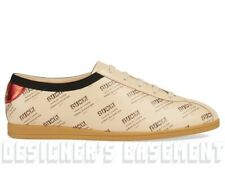 GUCCI Men 10.5G beige INVITE Print leather FALACER BEE Sneakers NIB Authent $890