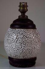 Lampe Ancienne Boule Art Deco Céramique Vintage Ceramic Lamp Base
