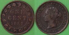 1887 Canada Large Penny Graded as Fine