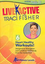 LIVE ACTIVE with TRACI FISHER new unopened DVD 6 Heart Healthy Workouts!