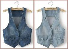 Unbranded Denim Machine Washable Vests for Women