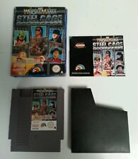 NINTENDO - NES WWF Steel Cage Challenge Video Game Boxed Complete LJN 1992 WWE