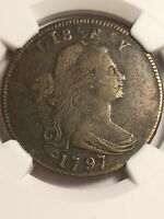1797 GRIPPED REV OF 95 1 CENT S-120b FINE DETAILS AUTHENTICATED NGC LE455 SCARCE