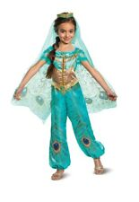 Disney princess jasmine costume deluxe By Disguise Size M (8-10) brand new tiara