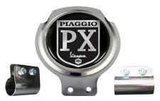 SCOOTER BAR BADGE-PIAGGIO PX Logo Nero-STAFFA gratuito su misura + raccordi